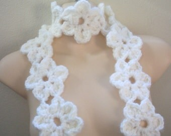 Pattern, Crochet Flower Scarf