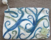Sonata in Blue Felted Clutch