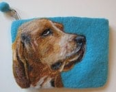 Custom Needle Felted Pet Portrait on Bag or to Frame