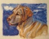 "8 x 10"" Custom Needle Felted Pet Portrait to Frame"
