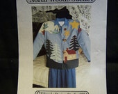 Womans Appliqued Jacket ... North Woods Jacket pattern...dated 1994 ... Sizes Petite, Small, Medium, Large, and Ex. Large