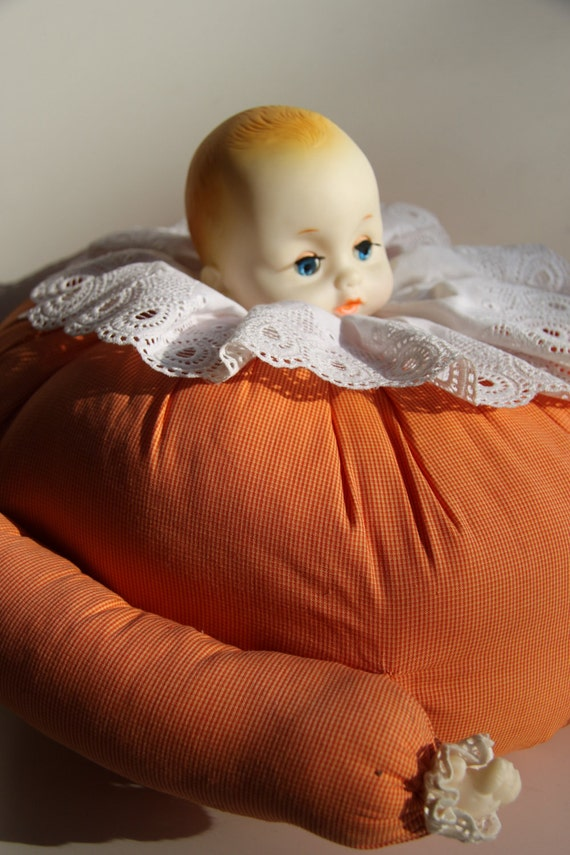 Big creepy doll cushion - RESERVED FOR Shesmovedon