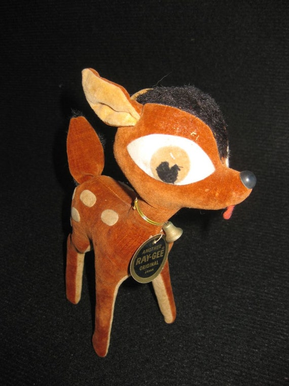 Adorable vintage stuffed deer made by Ray-Gee
