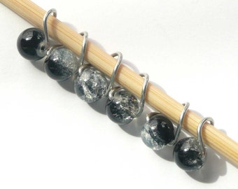 Black Ice Mobius Ring Stitch Markers