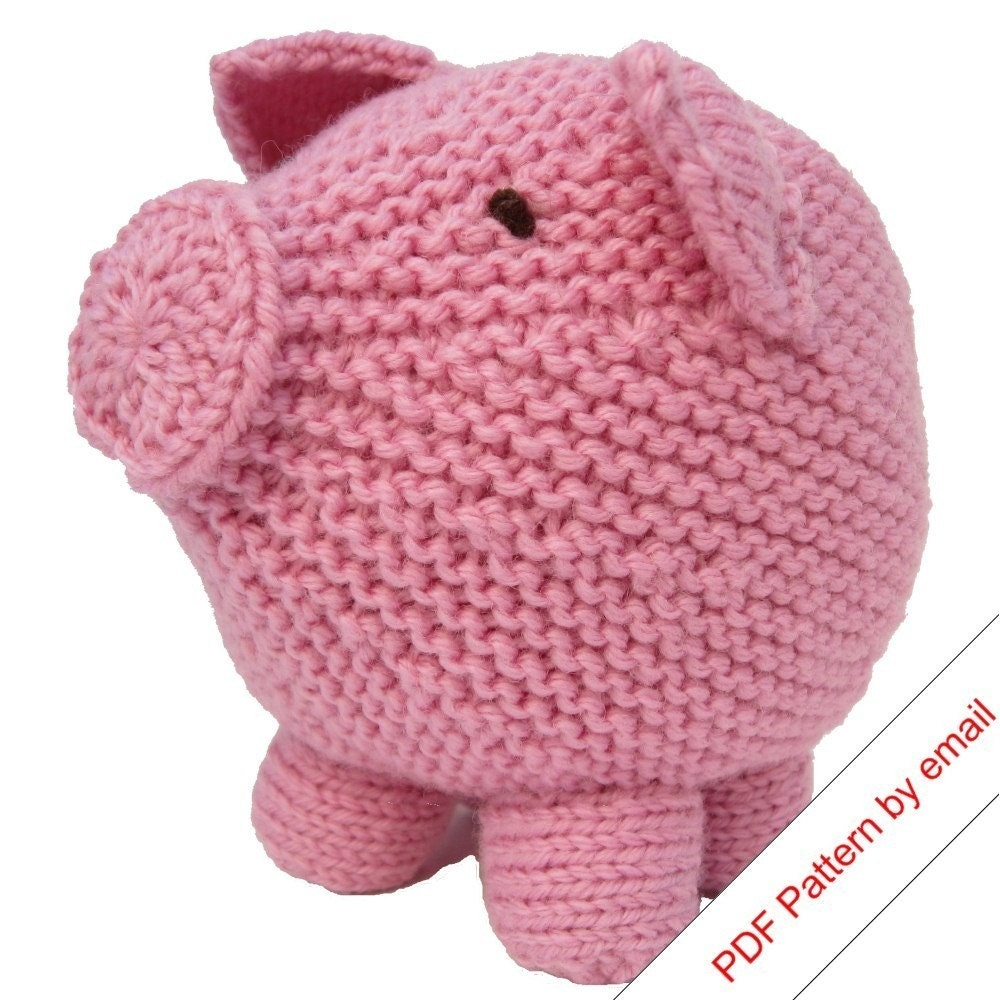 PDF Toy Pig Knitting Pattern. Knit Your Own Hog.