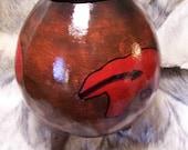 Gigage Nvwoti Yonv atlisdodi (Red Medicine Bear bowl)