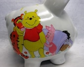 Personalized Piggy Bank-Winnie the Pooh and Friends