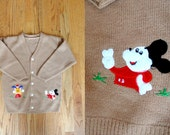 Vintage Kids Embroidered Mickey Cardigan 6