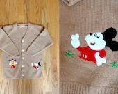 Vintage Kids Embroidered Mickey Cardigan 6