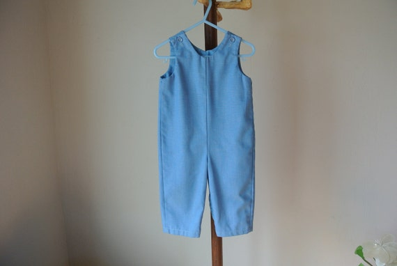 Vintage Baby Button Overalls 12-18 mos