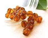 Set of 8mm Round Acrylic Amber Nugget Beads -- (25 Pcs)