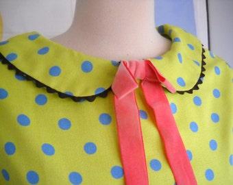 Dots and Dixie Cups - 1960's repro polka dot peter pan collar dress