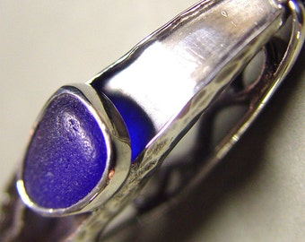 Blue Sea Glass Hair Barrette Hair Clip