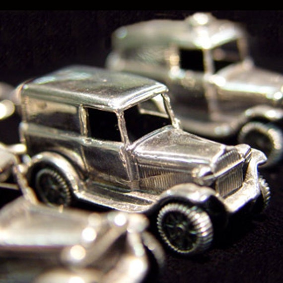 Sterling Silver Car Key Chain and Ring