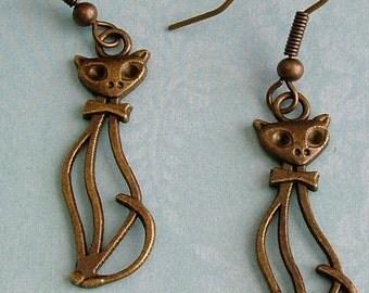 Mr Cool Kitty Cat Earrings