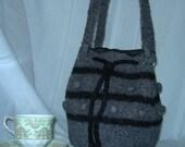 Grey felted bobble bag