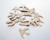 150 Soaring Birds - Punched From Vintage Book Pages