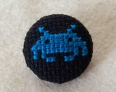 Blue Invader Pin