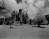 Danvers State Hospital Kirkbride Asylum Infrared Black and White Photograph