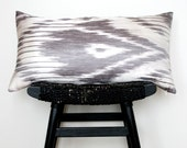 IKAT Linen and Silk Cushion Cover 63 x 34 cm