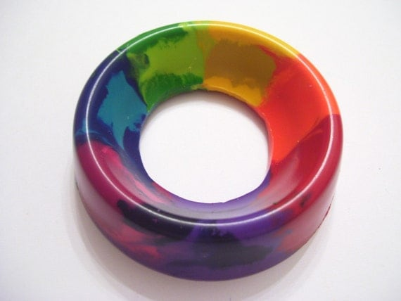 Rainbow Ring Crayon - Lil Scribblers (TM) - Perfect for Toddlers