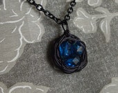 Birds Nest Necklace (Blue) Made To Order