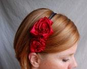 Scarlet Rosette Headband