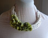 Apple Green Texture Necklace