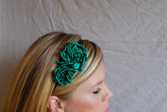 Emerald Rosette Headband