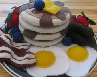Ultimate Breakfast Platter felt play food