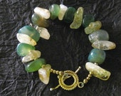 Green Agate and Citrine Bracelet - RAMJewelryDesigns