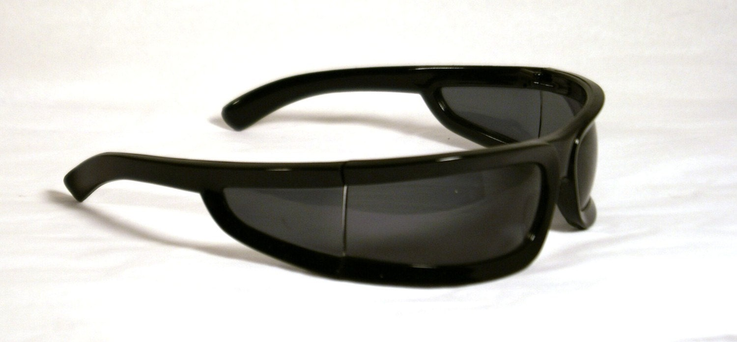 Vintage Dead Stock Wrap Around Sunglasses Made in by ...
