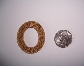 6 pcs., Vintage,Large Oval Mesh Ring Brass Finding