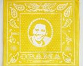 Yellow Obama Bandanna