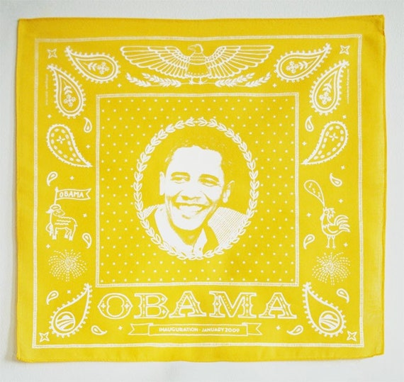 Yellow Obama Bandanna