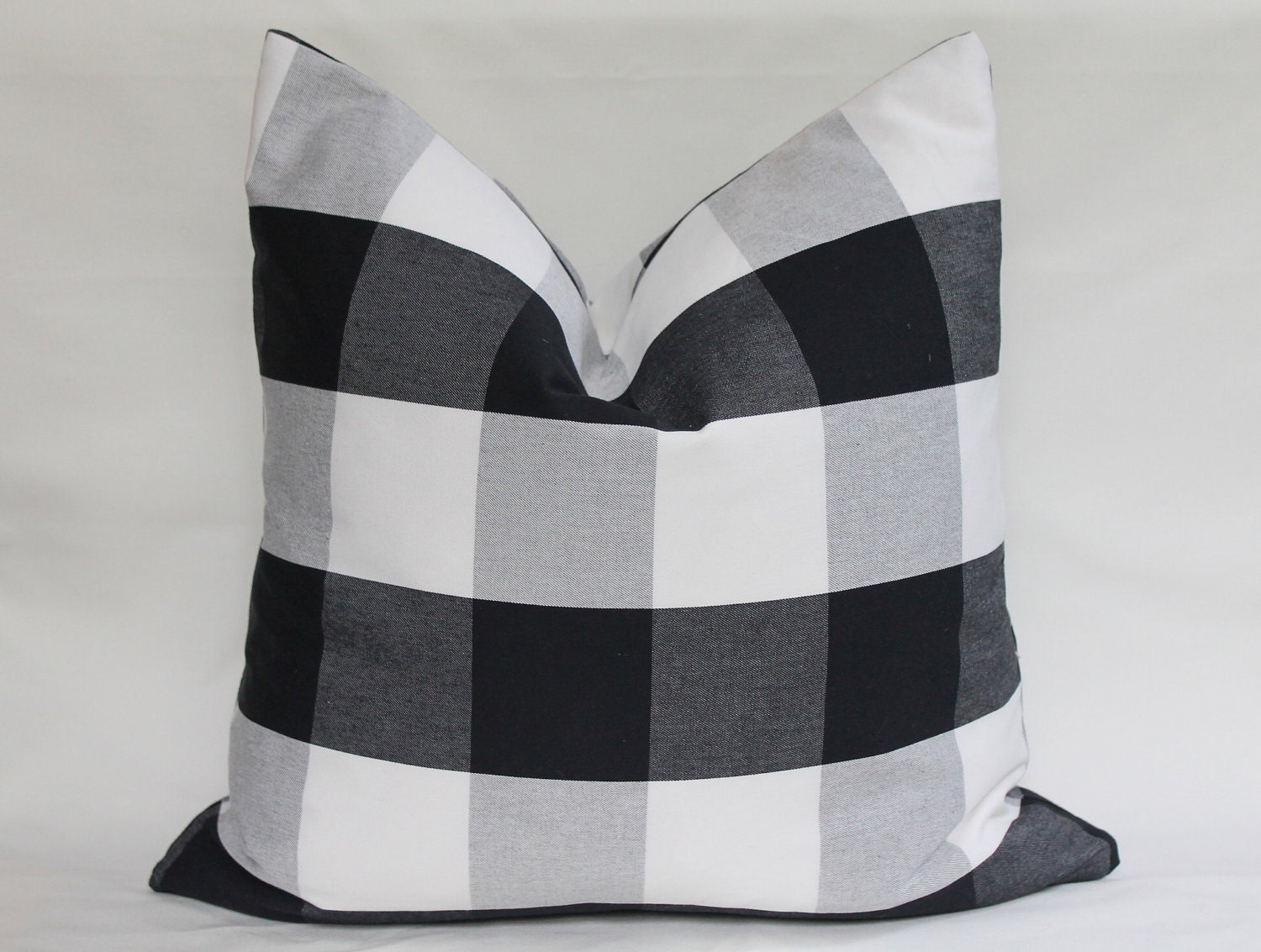 Buffalo Check Black White Large Gingham Pillow Cover