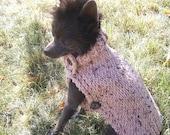 Grandpas sweater hand knit  Dog Photo Prop