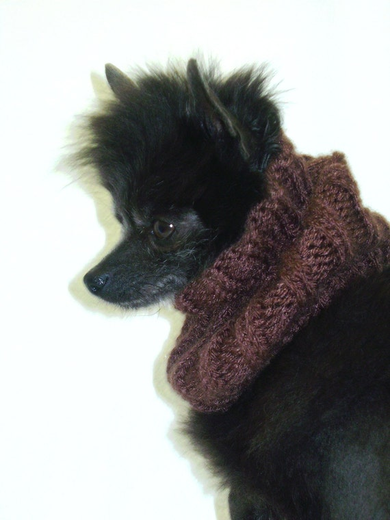 Brown Versitile Snoodle Hand knit Dog