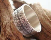 Silver Leaf Imprint band ring