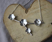 Handmade Silver & Gold Buttercup Necklace