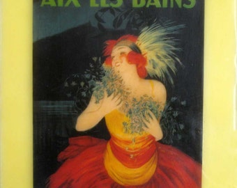 beeswax encaustic collage art deco 20's woman France french