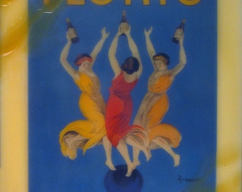 beeswax encaustic art deco 20's women dancing in Italy