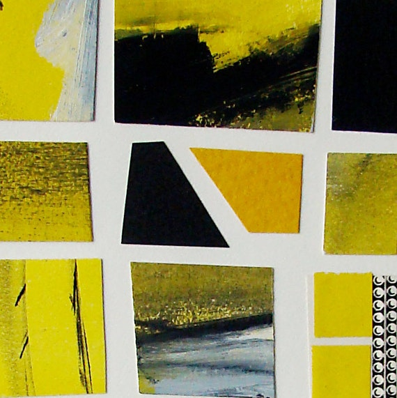 One of a Kind Collage, Modern, Affordable Fine Art, Abstract, Contemporary Landscape