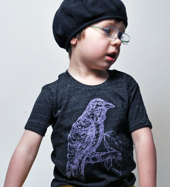 Raven Toddler Tee (Eco-charcoal) Short Sleeved