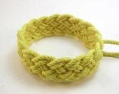 sunshine yellow BASIC turks head knot bracelet adjustable size 1741