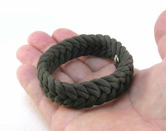 olive drab paracord bracelet turks head herringbone knot bracelet armband nautical jewelry rope jewelry 2551