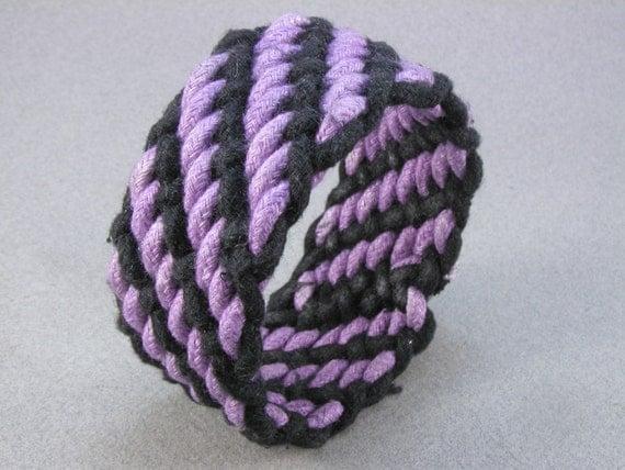 purple and black interweave rope bracelet medium 1420