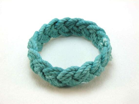 turquoise cotton turks head knot rope bracelet medium 1835