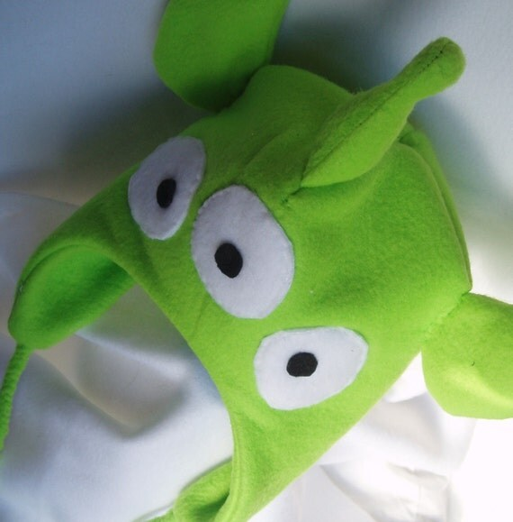 Items Similar To Toy Story Alien Replica Fleece Hat- MADE TO ORDER On Etsy