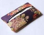 Tissue Holder (Purple Florals)